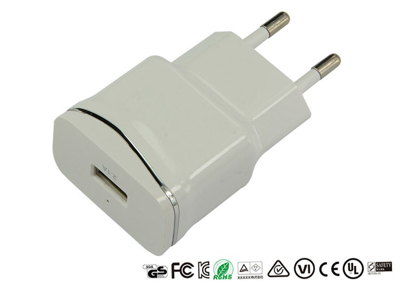 5V 2.1A Single Port USB Charger CE ROHS Approved For Mobile Phone Tablet
